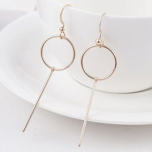 Jewelry - Gold Filled Circle Bar Earrings